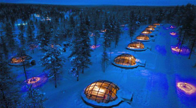 Hotel lodowy w Finlandii